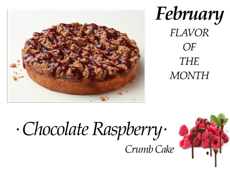 Chocolate Raspberry Crumb Cake of the Month