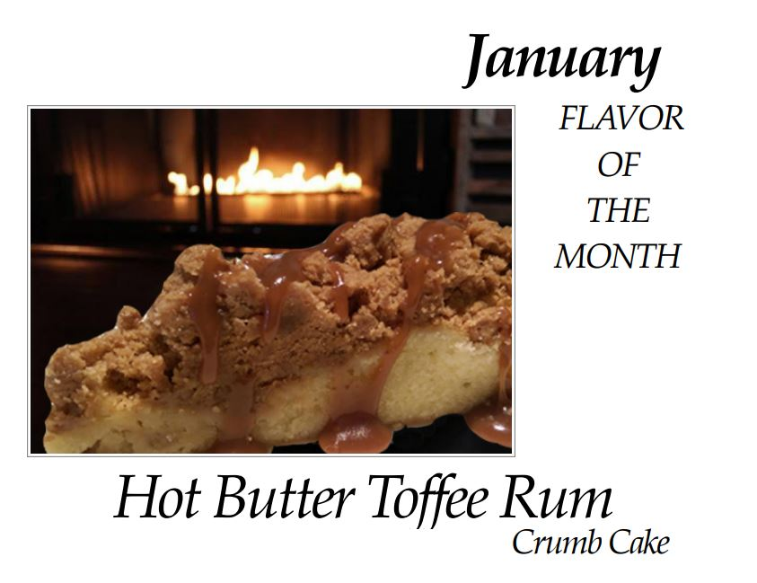 Hot Butter Torree Rum Crumb Cake of the Month