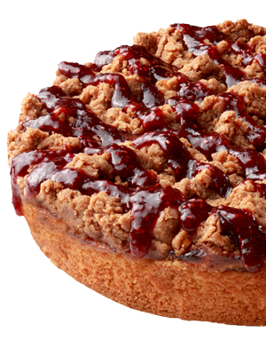 Ruby Red Raspberry Crumb Cake