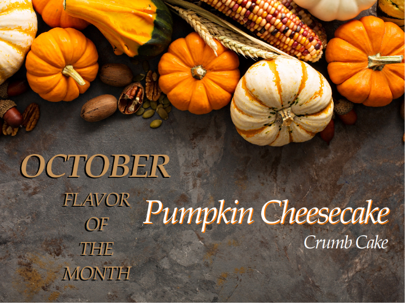 Pumpkin Cheesecake Crumb Cake of the Month