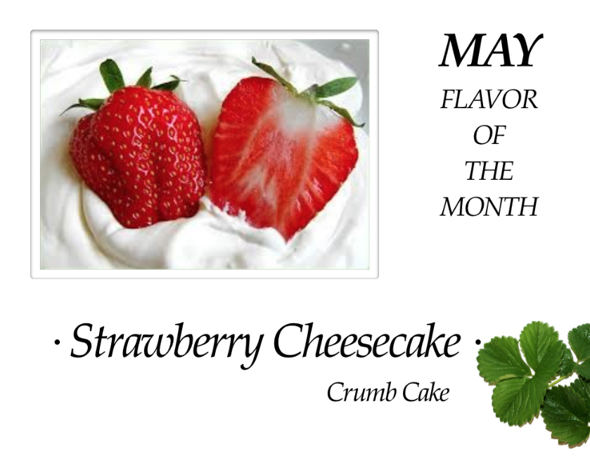 Strawberry Cheesecake Crumb Cake of the Month